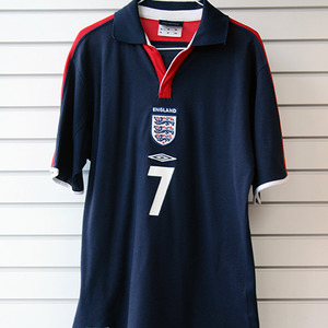 [중고][Used] 03-05 England Polo Shirt + 7 BECKHAM (Navy)