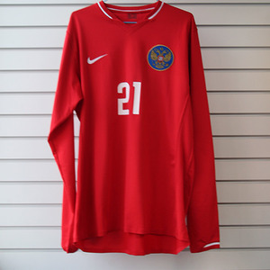 06-08 Russia Away Authentic Player Issue L/S + 21 ZHIRKOV (Size:L)
