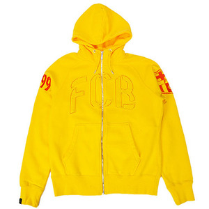 12-13 Barcelona Authentic AW77 Full-Zip - Yellow