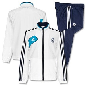 [Order] 12-13 Real Madrid Boys Training Presentation Tracksuit (White) - KIDS