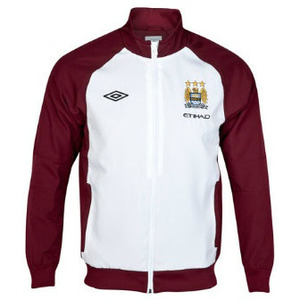[Order] 12-13 Manchester City Boys Training Woven Jacket (White / Maroon) - KIDS