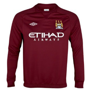 [Order] 12-13 Manchester City Boys Training Sweat Top (Maroon) - KIDS