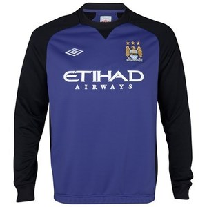 [Order] 12-13 Manchester City Boys Training Sweat Top (Deep Wisteria / Black) - KIDS