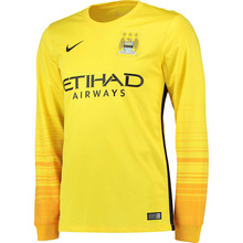 [해외][Order] 15-16 Manchester City Away GK(Goal Keeper) Jersey - Chrome Yellow/University Gold/Black