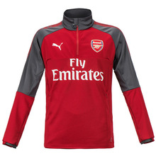 17-18 Arsenal 1/4 Training Top - Red