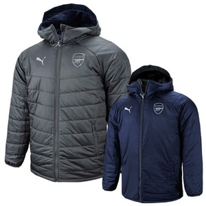 18-19 Arsenal Reversible Bench Jacket - Dark Grey/Navy
