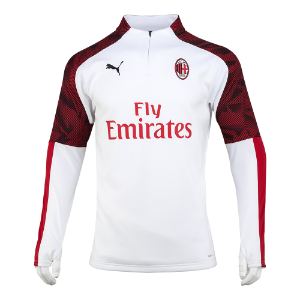 19-20 AC Milan Training Fleece Top - White