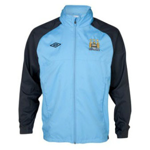 12-13 Manchester City Training Shower Jacket - Vista Blue / Carbon