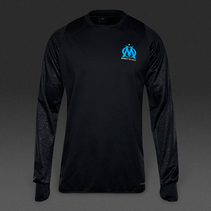 [해외][Order] 16-17 Marseille UCL(UEFA Champions League) Training Top - Black/Blue