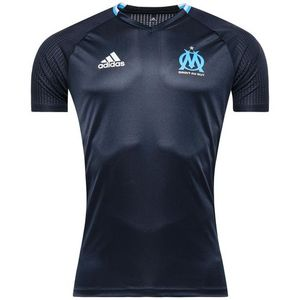 [해외][Order] 16-17 Marseille Training Shirt - Night Navy/White/Blue