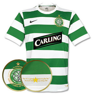 07-08 Celtic Home + 10 Vennegoor of Hesselink + SPL Patch (Size:M)