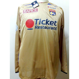 07-08 Lyon Away L/S + 29.SQUILLACCI + Champion De France patch + Full Spon Set (Size:M)