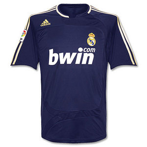07-08 Real Madrid Away + 5.CANNAVARO + LFP Patch (Size:M)