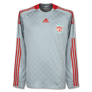 08-09 Liverpool Away L/S Authetic Player Jersey (FORMOTION / No Sponsor)(Champions League)