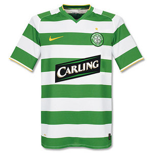 08-09 Celtic Home + 18 DONATI + SPL Champions Patch (Size;M)