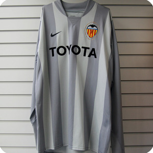 07-08 Valencia GK L/S (Authentic Player Jersey) - Grey