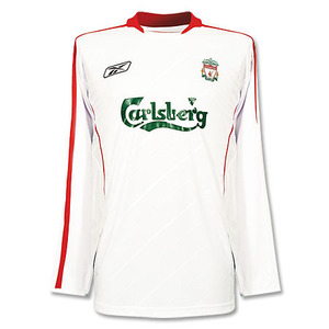 [중고][Used] 05-06 Liverpool UCL(ChamPions League) Away L/S + 8 GERRARD (Size:M)