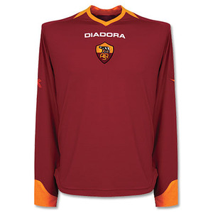 06-07 AS Roma Home L/S(Authetic) + 10 TOTTI + Champions League (Size:L)